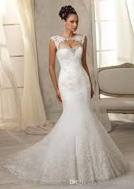 fishtail wedding dress real sale cap sleeve zipper appliques mermaid fishtail wedding
