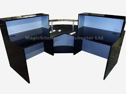 Computer Desk In Black 0401 Reception Desk In Black High Gloss 2000mm
