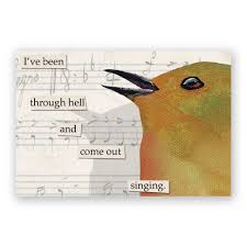 mincing mockingbird guide to troubled birds been through hell magnet bird humor gift stocking