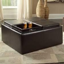 dayton 4 tray top bonded leather storage ottoman 280 incl s u0026h