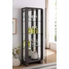 Glass Shelves Cabinet Curio Bookshelves U0026 Bookcases Shop The Best Deals For Nov 2017