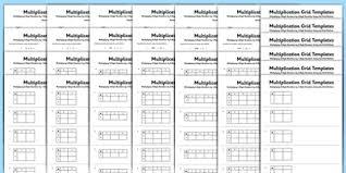 multiplication grid activity sheet bumper pack multiplication