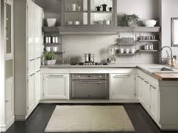 appliances white and grey timeless kitchen cabinets with two