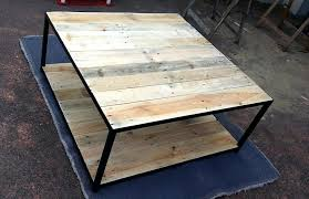 pallet coffee table with metal base pallet furniture diy