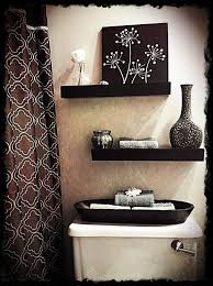 stylish bathroom shelving ideas cream wall color and white solid