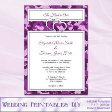 camo wedding invitations 19 best camo and purple wedding images on purple
