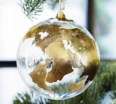 globe ornament pottery barn