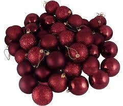 amazon com 60ct burgundy shatterproof 4 finish christmas ball