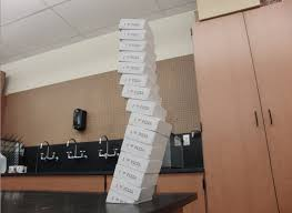 Homemade Toy Box by Toy Physics Leaning Tower Of Pizza Boxes Puzzle Homemade