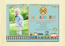 Birthday Invitation Cards For Kids Train Birthday Invitation Boys 1st 2nd 3rd 4th Birthday Party