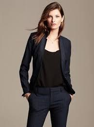 brand new banana republic women u0027s pinstripe suit blazer navy sizes