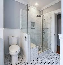 subway tile bathrooms bathroom contemporary with shower ideas