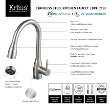 kraus kpf 2130 single lever stainless steel pull out kitchen