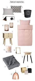 and wood bedroom inspiration mix of grey black soft pink copper and
