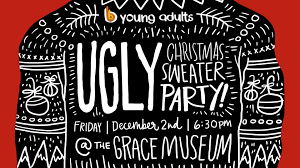 upcoming events young adults ugly christmas sweater party