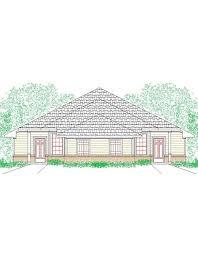 duplex house plan 1228 duplex 130 traditional front elevation