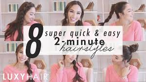 8 super quick u0026 easy hairstyles 2 minute looks for work or