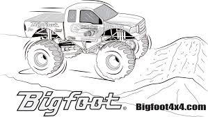 bigfoot monster truck pictures monster truck coloring pages getcoloringpages com