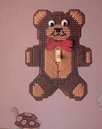 bear light switch covers teddy bear light switch cover plastic canvas pinterest plastic
