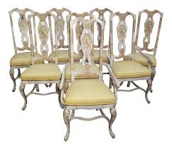 drexel heritage chinoiserie dining chairs set of 8 chairish
