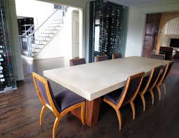 concrete dining room table stunning on dining table set and