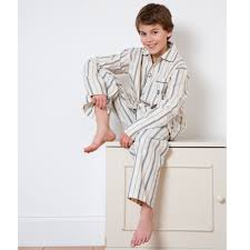 beautiful traditional boys blue cotton parry pyjamas