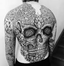 skull mandala back best design ideas