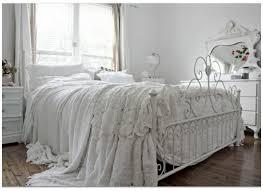 White Metal Bed Frame Bedroom Delightful White Shabby Chic Bedroom Decoration