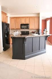 Kitchen Island Makeover Ideas Black Board And Batten Kitchen Island Makeover 25 House
