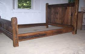 Bed Frames Oak Buy Crafted Reclaimed Antique Oak Wood Size Rustic Bed