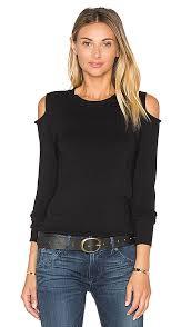open shoulder sweater 525 america open shoulder sweater in black revolve