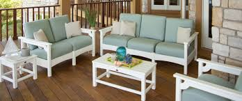 Plastic Patio Furniture by High End Outdoor Furniture By Polywood Recycled Plastic