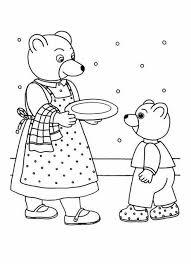 Facile petit ours brun maman  Coloriage Personnages Télévision