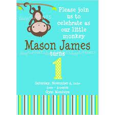 photo monkey baby shower invitations image