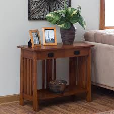 zahara 2 drawer sofa table mission oak hayneedle