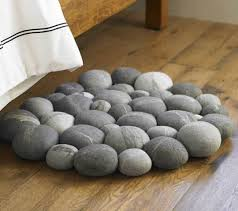 Pebble Bath Rug Clustered Felted Stone Mat By Ronel Jordaan Apartment Therapy