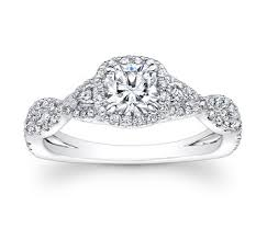 twisted band engagement ring forevermark cushion cut halo ring with pave twist band in
