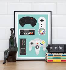 retro controllers print nes poster print with controllers u2026 flickr