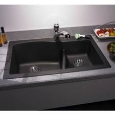 Swanstone QZLS Double Kitchen Sink X Nero - Double kitchen sink