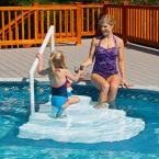 wedding cake pool steps blue wave white wedding cake above ground pool step with liner pad