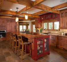 Castle Kitchen Cabinets Mf Cabinets | rustic log home rustic kitchen cleveland by mullet cabinet