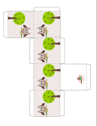 free printable owl party favor boxes