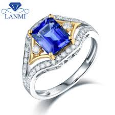 tanzanite wedding rings aliexpress buy emerald cut tanzanite wedding rings