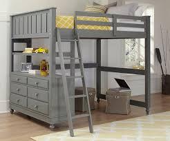 wood loft bed with desk bunk bed desk work study sleep under one roof modern bunk