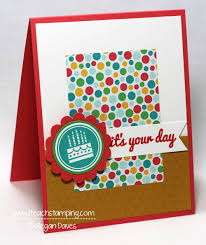 making a simple handmade birthday card i teach stamping
