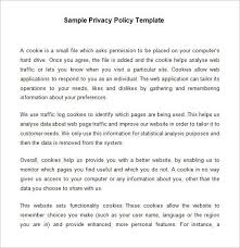 privacy policy template sample privacy policy template termsfeed