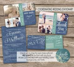 wedding invitation kit save the date postcard thank you