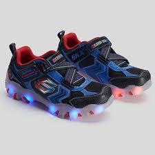 Skechers Street Lightz Light Up Kids Blue Red Athletic Shoes