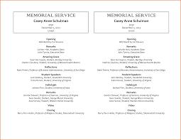 sle funeral program memorial service template word