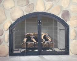 Ideas Fireplace Doors Fireplace Screens Home Depot Arched Doors Inserts Glass Screen